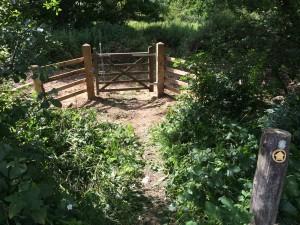 Gate at B2112 access