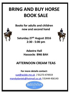 Bring and buy horse book sale 2016 blue logo V4 with horses